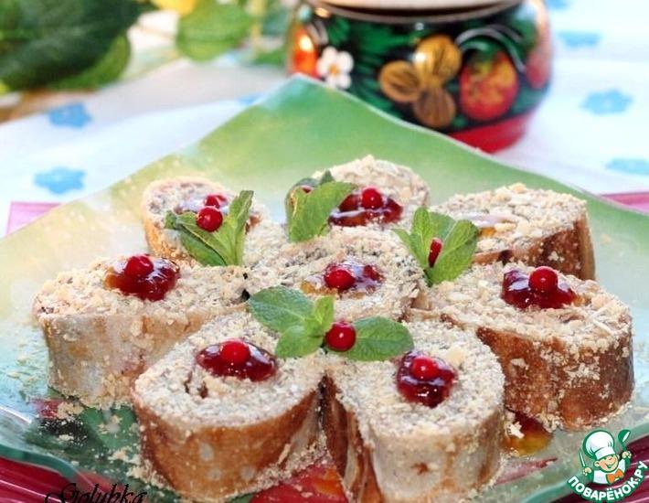 Рецепт: Ржаные блинчики с фруктовой начинкой