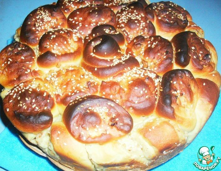 Рецепт: Пирог с сырно-ореховой начинкой