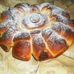 Пирог с ореховой пастой