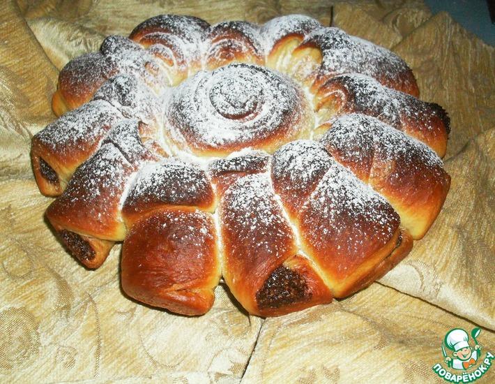 Рецепт: Пирог с ореховой пастой