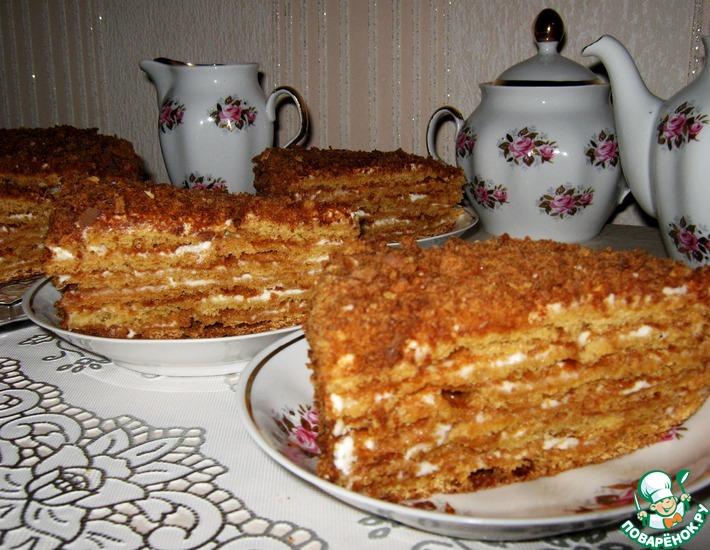 Рецепт: Медовый торт Посольский