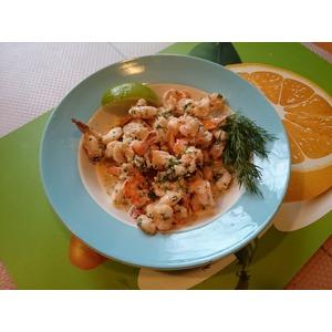 Креветки в сливочном соусе