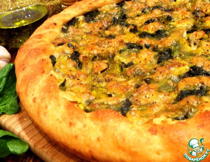 Рецепт: Картофельная пицца со шпинатом