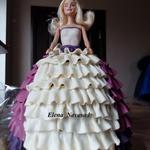 Торт Кукла Барби с рюшами