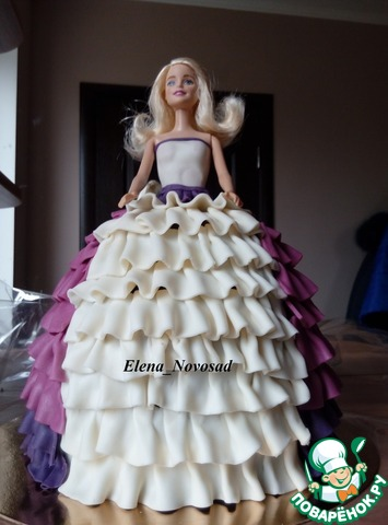 Пошаговый рецепт приготовления торта кукла Барби
