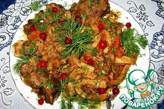 Рецепт: Бараньи ребрышки Муж на кухне