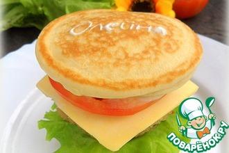 Рецепт: Оладьи с начинкой А-ля гамбургер