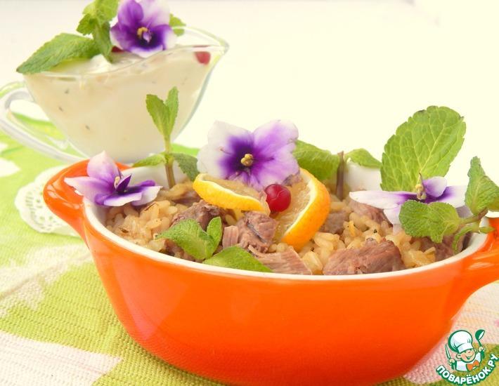 Рецепт: Рис с лимоном и мятой