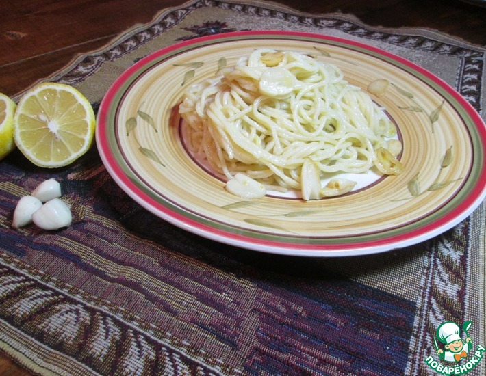 Рецепт: Паста с чесноком и лимоном