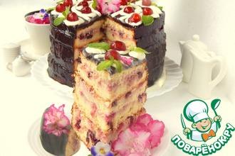 Рецепт: Вишнёвый торт для любимой