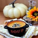 Тыквенно-морковный суп-пюре с имбирём