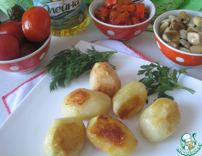 Рецепт: Картофель из печки