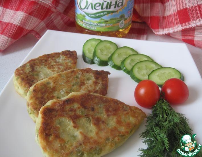 Рецепт: Котлеты картофельные с зеленым горохом