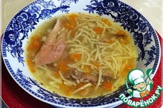 Рецепт: Суп из домашнего петуха