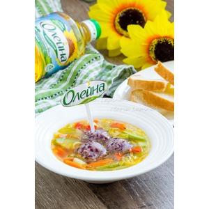 Овощной суп с фальшивыми фрикадельками