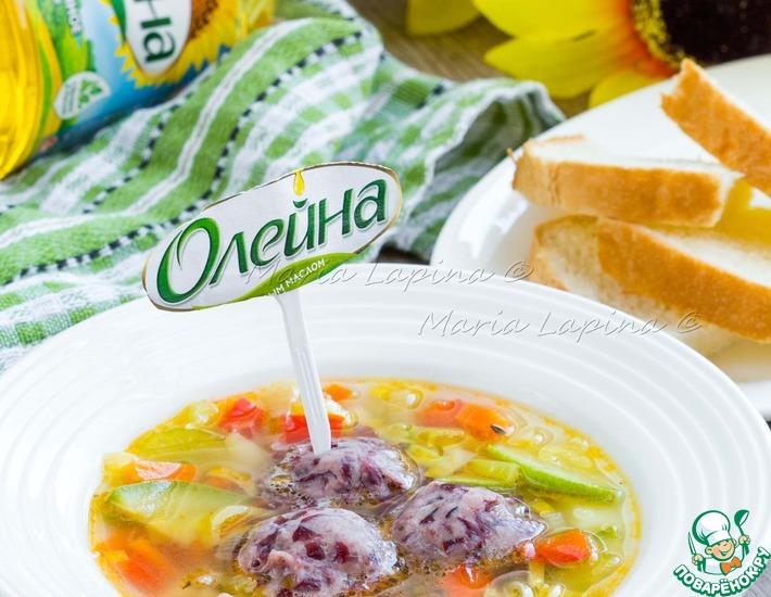 Рецепт: Овощной суп с фальшивыми фрикадельками