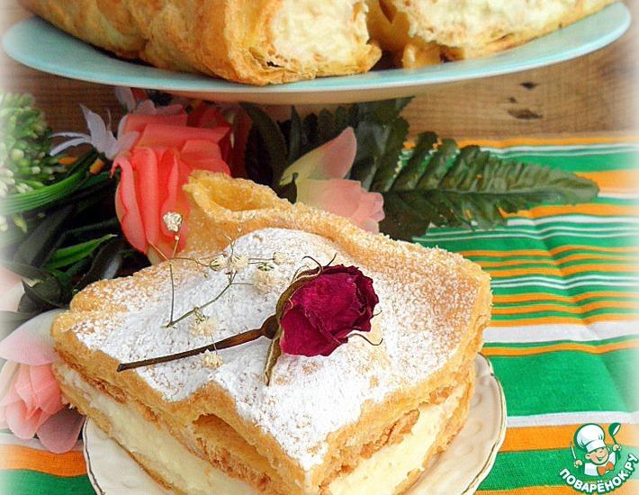 Рецепт: Заварной пирог-торт Карпатка