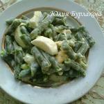 Салат из стручковой фасоли с яйцами