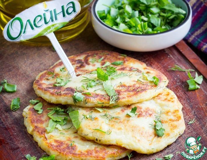 Рецепт: Постные картофельные лепешки с зеленью