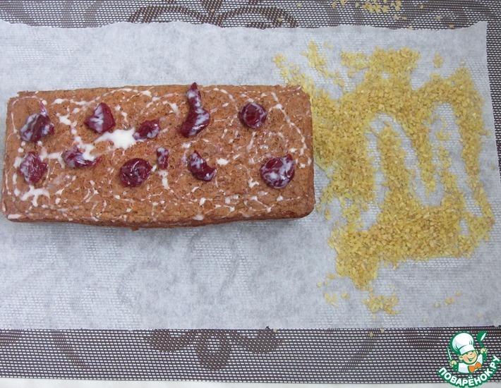 Рецепт: Кекс из пшеничной крупы с вишней
