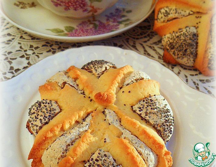 Рецепт: Печенье Маково-кунжутный цветок