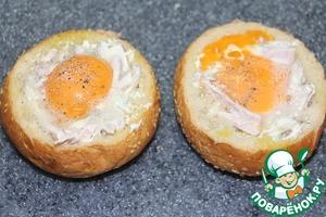 Фаршированные булочки к завтраку Яйцо куриное