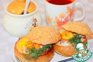 Фаршированные булочки к завтраку Ветчина