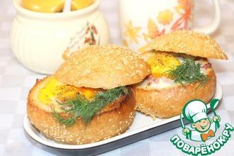 Рецепт: Фаршированные булочки к завтраку