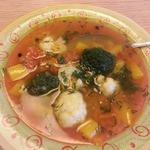 Суп из красной чечевицы с овощами