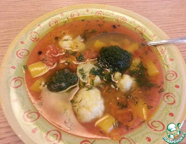 Рецепт: Суп из красной чечевицы с овощами