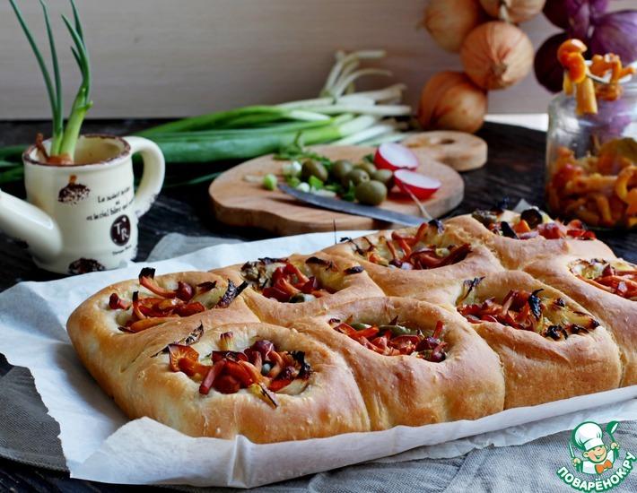 Рецепт: Ватрушки с луком и грибами