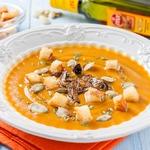 Тыквенный суп-пюре с белыми грибами