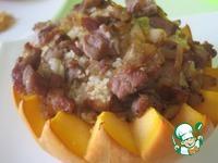 Кускус с мясом и изюмом в тыкве ингредиенты