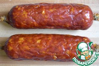 Рецепт: Cервелат варено-копченый свиной