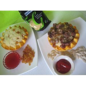 Кускус с мясом и изюмом в тыкве