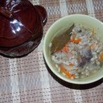 Густой суп в горшочке