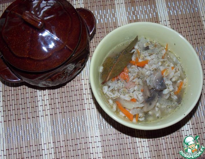 Рецепт: Густой суп в горшочке