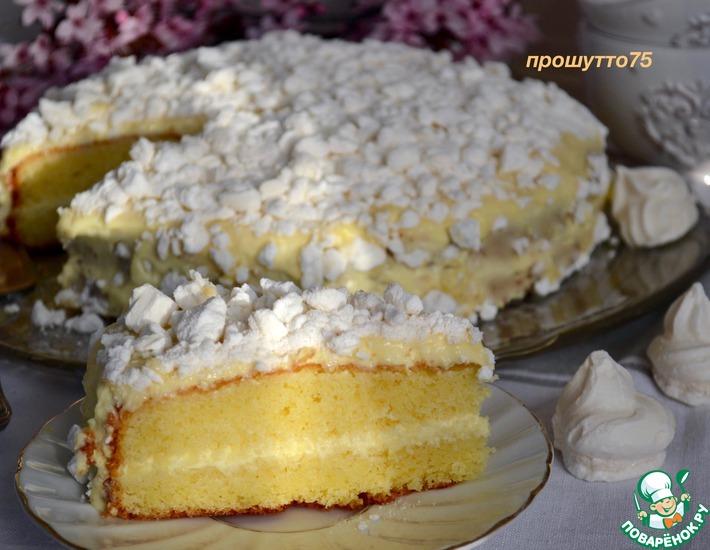 Рецепт: Торт лимонный Меренгата