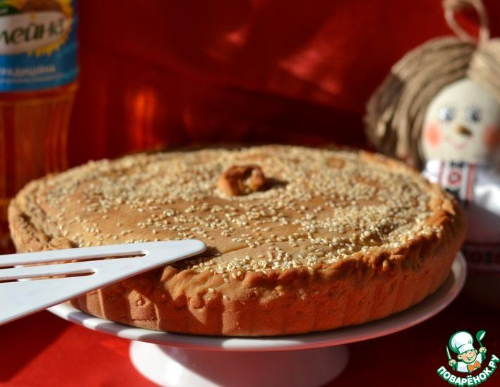 Рецепт: Постный грибной пирог