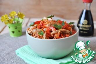 Рецепт: Салат из курицы с морковью по-корейски