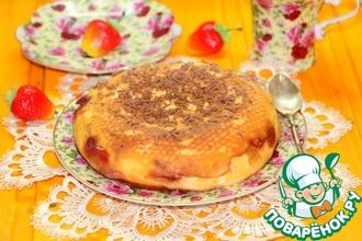 Рецепт: Творожная запеканка-десерт Апельсинка