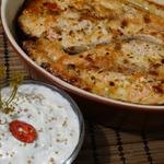 Семга по-турецки с русским соусом