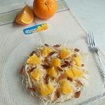 Капустный салат с изюмом и апельсином