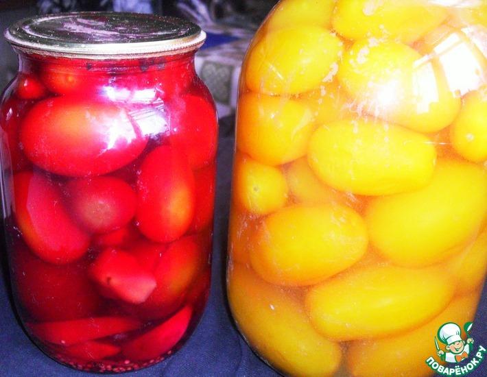 Рецепт: Маринованные помидоры по-лисеновски