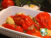 Фаршированный перец с сырно-чесночным кремом ингредиенты