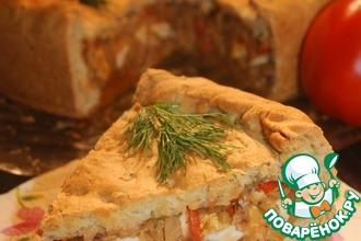 Рецепт: Ароматный пирог с капустой