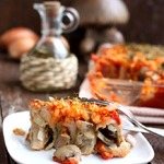 Ленивые пельмени под овощным соусом
