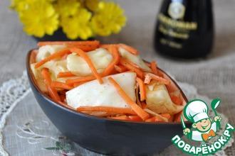 Рецепт: Закуска из капусты с морковью по-корейски