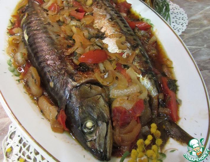 Рецепт: Скумбрия запеченная Рыбка Женькиной мечты