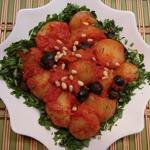 Картофель в остром томатном соусе